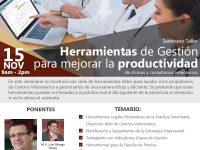 Seminario Taller Herramientas de Gestión  para mejorar la productividad de clínicas y consultorios veterinarios